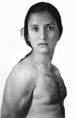 Clio Newton, Sasha, 2019, compressed charcoal on paper, 91 x 58 inches
