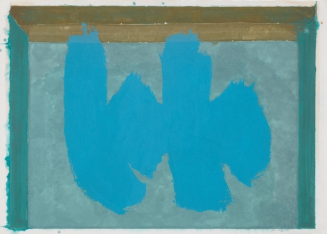 Robert Motherwell,, Blue Elegy, 1987, Lithograph and etching in color
