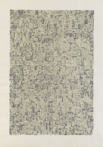 Jasper Johns, Gray Alphabets, 1968, Lithograph