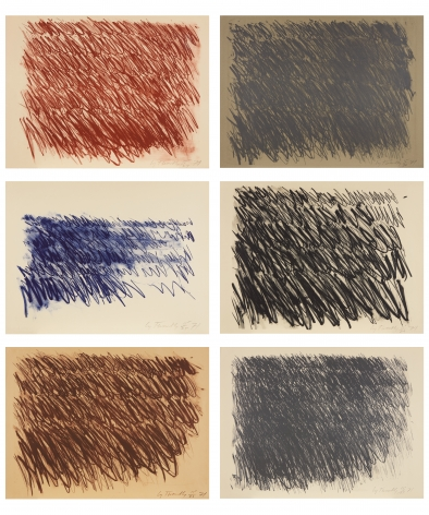 Cy Twombly, Untitled (Captiva Island) I, II, III, IV, V, VI, 1971, the complete series of six lithographs