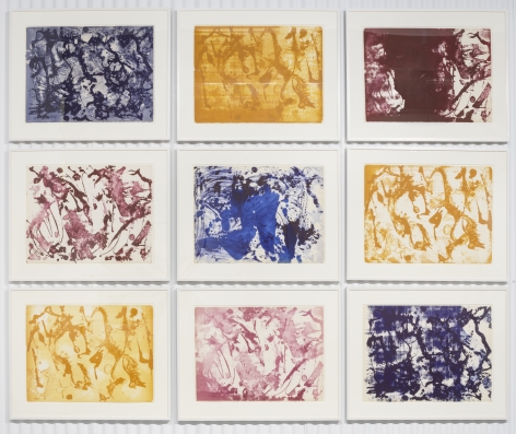 Lee Krasner, Long Lines for Lee Krasner, 1970, Complete set of nine lithographs in color