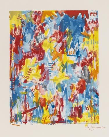 Jasper Johns, False Start I, 1962, lithograph