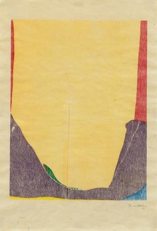 Helen Frankenthaler, East and Beyond,1973, woodcut
