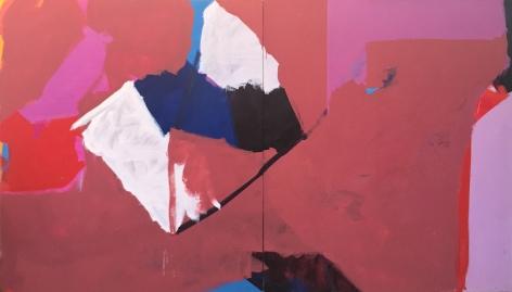 Michael Boyd, 813 Broadway, 1965, 2 panels, acrylic on canvas, 70h x 120w iN