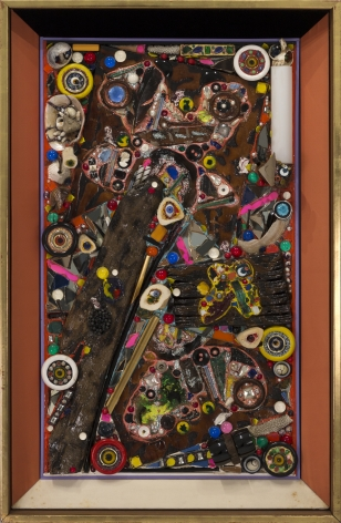 Alfonso Ossorio, SPLIT, 1961, plastic and various materials on composition board, 37.50h x 23.50w in