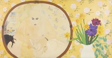 Martha Edelheit, Tattooing with Rose Wallpaper, 1963