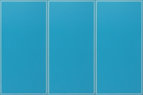 Ted Kurahara, Triple Light Blue (Venezia), 1984