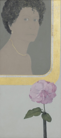 Marcia Marcus, Self Portrait with Flower, 1967