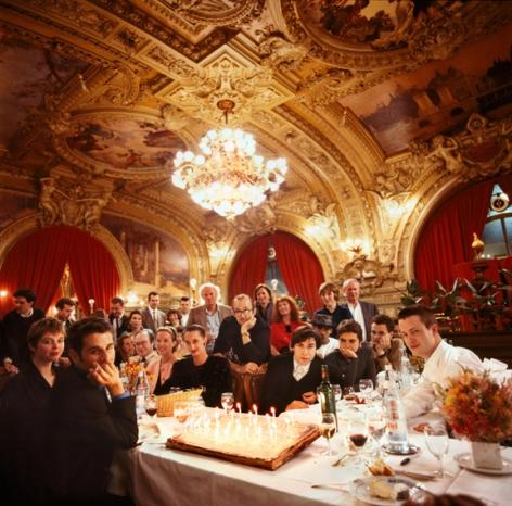 Tseng Kwong Chi, Keith Haring's Birthday Party, Paris, France,1987