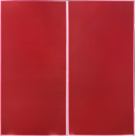 Ted Kurahara, Double Red Study for Savelli, 1982