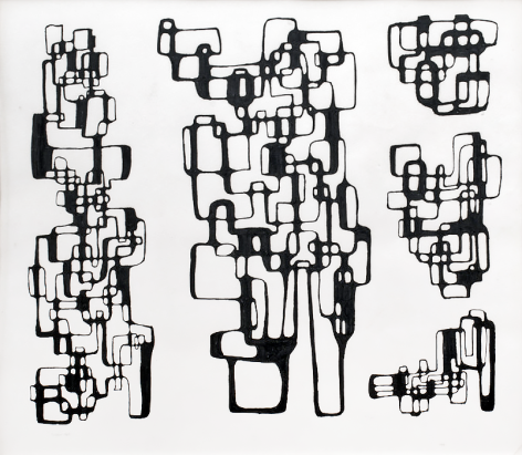 Ibram Lassaw, Untitled (Drawing for Sculpture), 1969