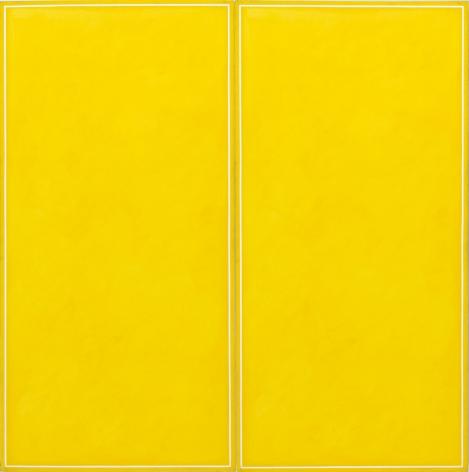 Ted Kurahara, Double Yellow over White, 1985