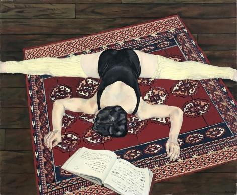 Daphne Mumford, Dancer Stretching (Vickie in a Split), 1977