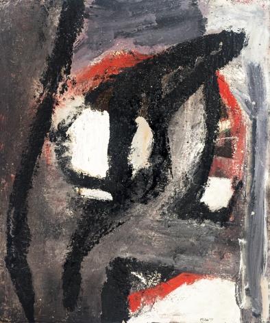 George McNeil (1908-1995), Black Convergence, 1952