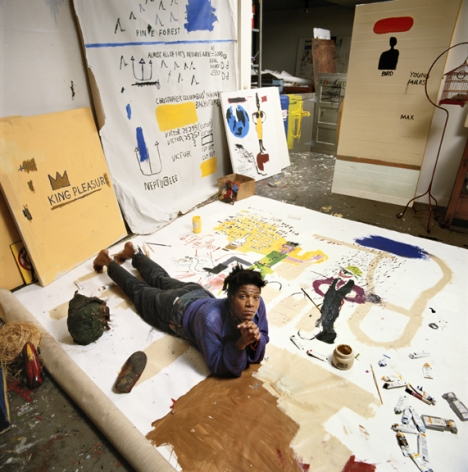 Tseng Kwong Chi, Jean-Michel Basquiat New York (laying down) 1987