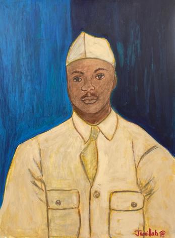 Jamillah Jennings, Untitled (Military Portrait on Split Ground), 1989
