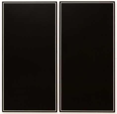 Ted Kurahara, Double Black with White Lines, 1985
