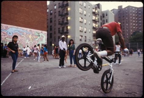 Tseng Kwong Chi, Biker on Playground, PS97, 1/5