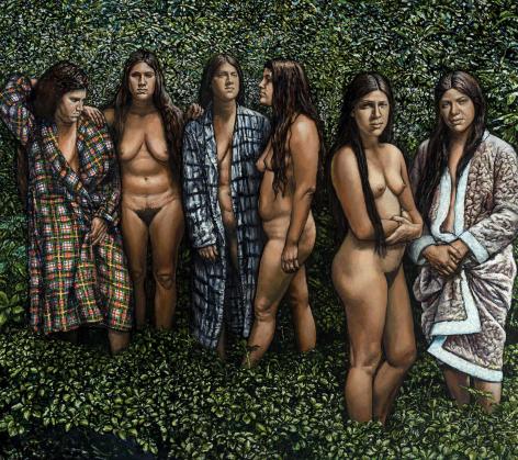 Shirley Gorelick, Three Sisters II (Westchester Gauguin), 1974-76