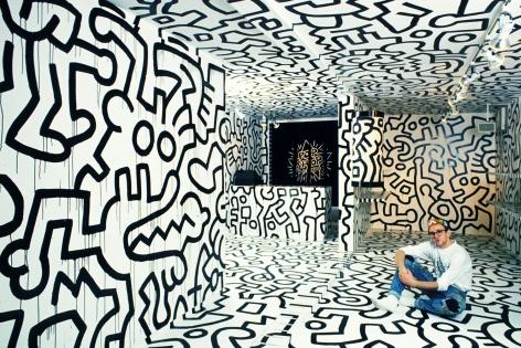 Tseng Kwong Chi, Keith Haring, Pop Shop Tokyo,1988