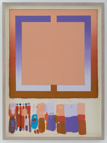 Michael Boyd, Bazaar Study, 1971, 30″ x 22″, acrylic and graphite on paper