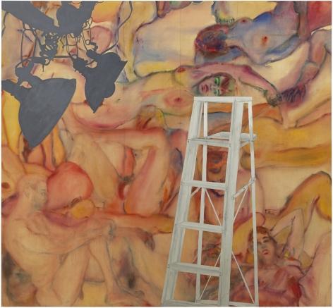 Martha Edelheit, Flesh Wall with Ladder, 1965