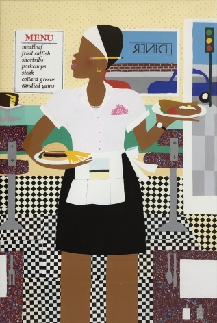 Varnette Honeywood, Lunch at the Grill, 1995
