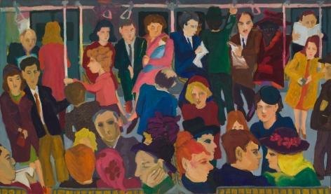 Mimi Gross, On the Subway, 1962-63