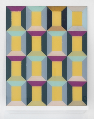 Miriam Schapiro, 16 Windows I Reverse, 1965, acrylic on plexiglass, 24 1/4h x 19 1/2w in
