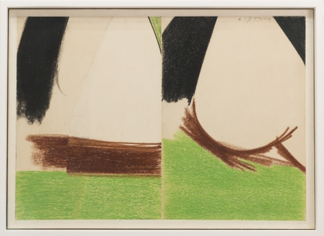 Willem de Kooning,Untitled (East Hampton), 1960,Crayon and collage on paper mounted to canvas, 14h x 20w in