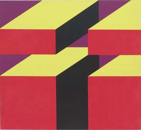 Miriam Schapiro, Rosarita's Blocks, 1968
