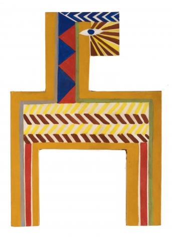 Joe Overstreet (1933-), Untitled (Sun Ra series), 1967