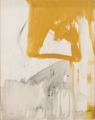 Franz Kline, Ochre and Grey Composition, 1955, Oil on paper mounted to canvas, 20h x 16w in