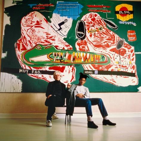 Tseng Kwong Chi, Warhol and Basquiat Sitting, 1987