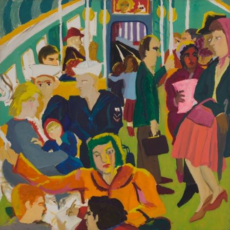 Mimi Gross, Subway, 1962