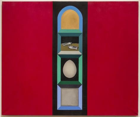 Miriam Schapiro, Shrine for Two Paint Tubes, 1962