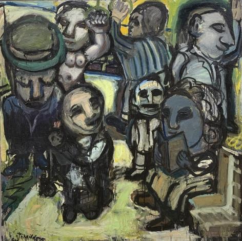 Jay Milder (1934-), Subway Riders 9, 1958