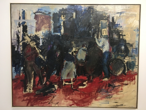Howard Kanovitz, Four A.M. E.S.T., 1956, oil on canvas, 69 3/4h x 56 1/2w in