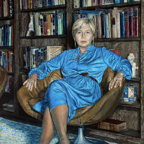Shirley Gorelick, Tess in a Blue Dress (Dr. Tess Forrest), 1980
