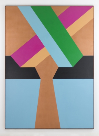 Miriam Schapiro, Borrega Take, 1967, acrylic on canvas, 60h x 84w in