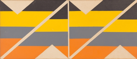 Larry Zox, Multi from Zone I, 1965, Acrylic on canvas, 12h x 28w in
