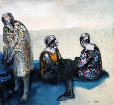 Shirley Gorelick, Giorgione's Beach Minus One, 1965