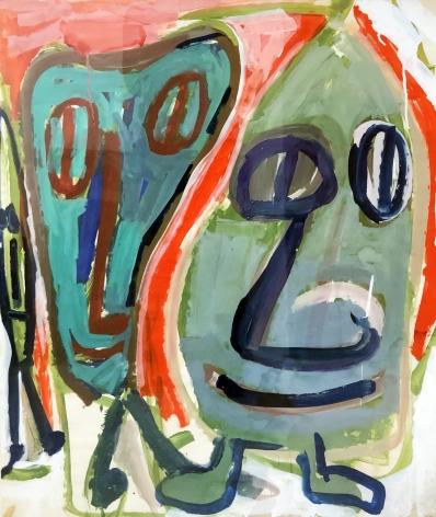 Jay Milder (1934-), Subway Runner (Green), 1964