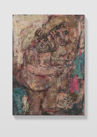 Daniel Crews-Chubb, Couples 4 (cream, Veronese green and fuchsia), 2021