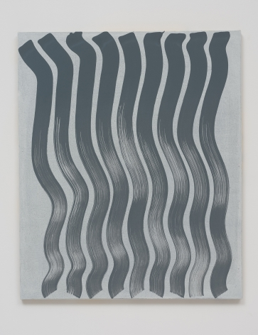 Michael Dopp Untitled (Strokes, Grey on White), 2013