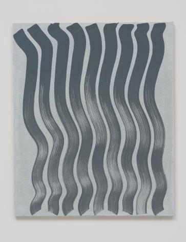 Michael Dopp Untitled (Strokes, Grey on White), 2013
