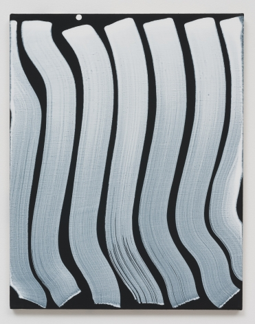 Michael Dopp Untitled (Strokes, White on Black), 2013