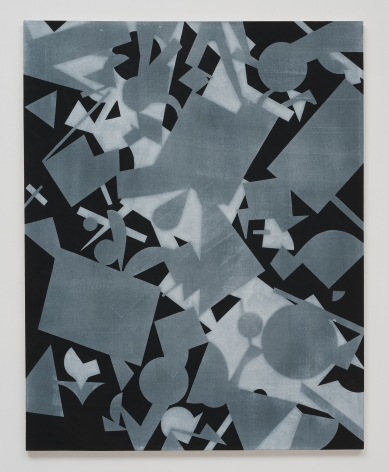 Michael Dopp Untitled (Black Shape Painting 2), 2013