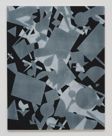 Michael Dopp Untitled (Black Shape Painting 2), 2013