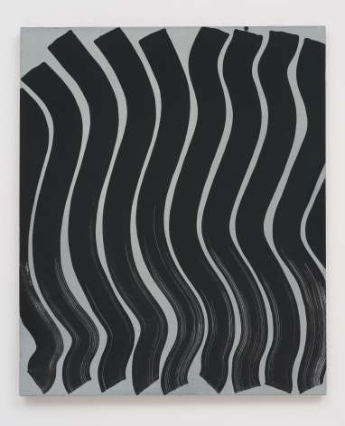 Michael Dopp Untitled (Strokes, Black on Grey), 2013